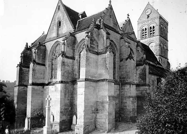 Eglise Ensemble nord-est, Enlart, Camille (historien),