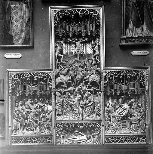 Evêché (ancien) Retable provenant de l'évêché, Heuzé, Henri (photographe), 21 ; Dijon ; Musée