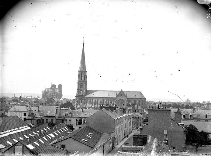 Cathédrale Notre-Dame Cathédrale et église Saint-André, pris de la Providence, Lajoie, Abel,