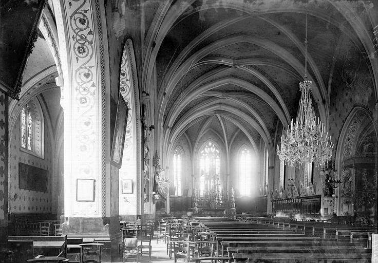 Eglise Saint-Maurice Nef vue de l'entrée, Enlart, Camille (historien),