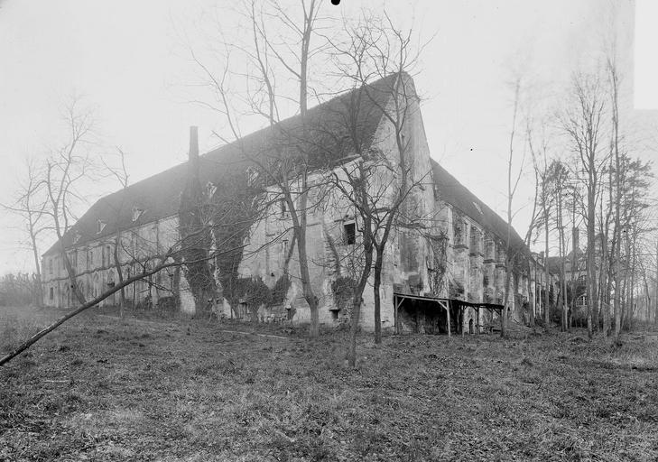Abbaye du Moncel (ancienne) Bâtiments, côté nord-est, Service photographique,