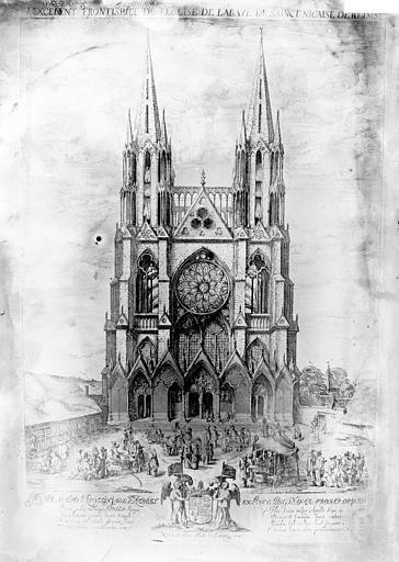 Eglise Saint-Nicaise , Enlart, Camille (historien),