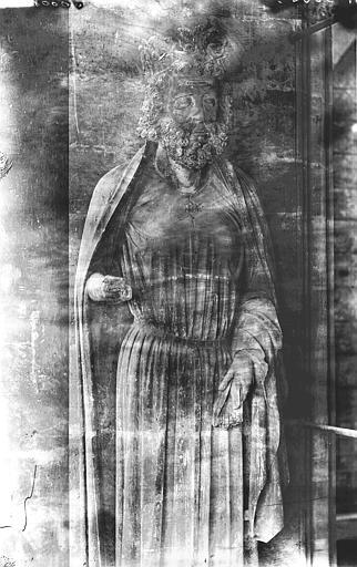 Cathédrale Notre-Dame Statue de roi, niche de la tour sud, Lajoie, Abel,