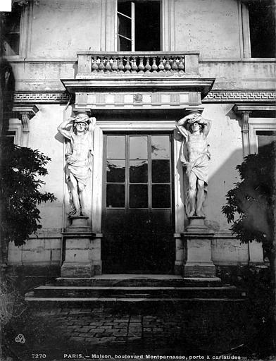 Maison Porte, cariatides, Durand, Eugène (photographe),