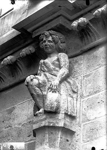 Cathédrale Notre-Dame Transept sud, cariatide, Lajoie, Abel,