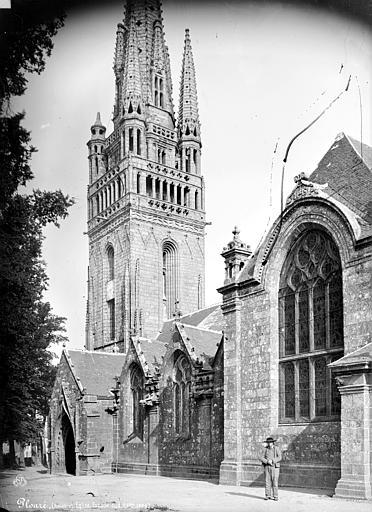 Eglise de Ploaré Façade sud et clocher, Mieusement, Médéric (photographe),