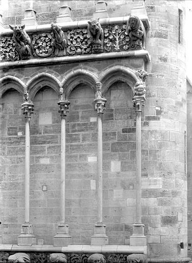 Eglise Notre-Dame Façade ouest : Arcatures de la galerie, Durand, Jean-Eugène (photographe),