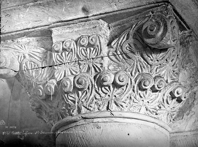 Abbaye aux Dames (ancienne), Eglise Sainte-Trinité Chapiteau de la nef, Mieusement, Médéric (photographe),