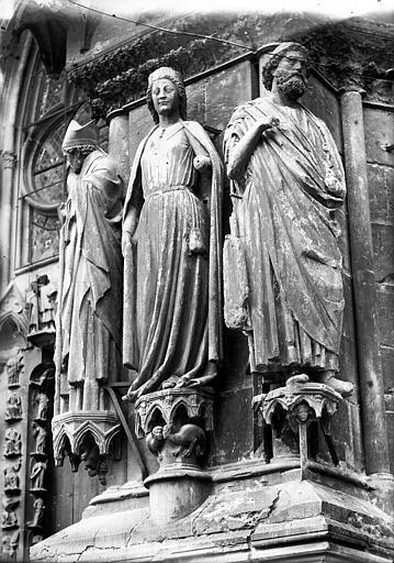 Cathédrale Notre-Dame Portail ouest, Abiathar, Reine de Saba, Lajoie, Abel,