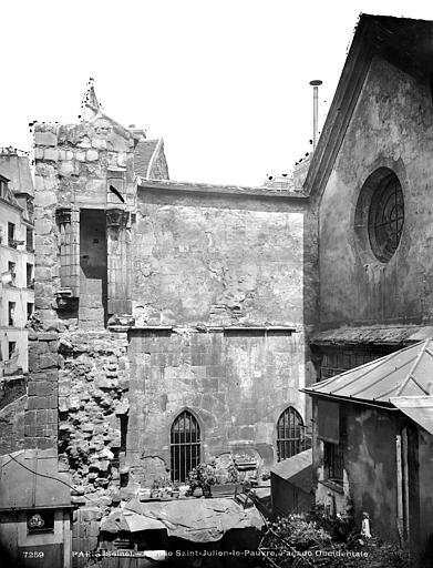 Eglise Saint-Julien-le-Pauvre Façade ouest, Durand, Eugène (photographe),