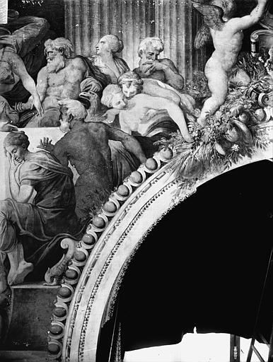 Domaine national, château Peintures murales de la galerie Henri II, partie droite du Banquet, Service photographique,