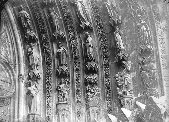Cathédrale Notre-Dame Portail ouest, porte gauche, voussure de droite, partie inférieure, Lajoie, Abel,