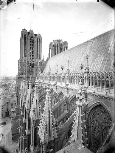 Cathédrale Notre-Dame Toiture de la nef et tours, Lajoie, Abel,