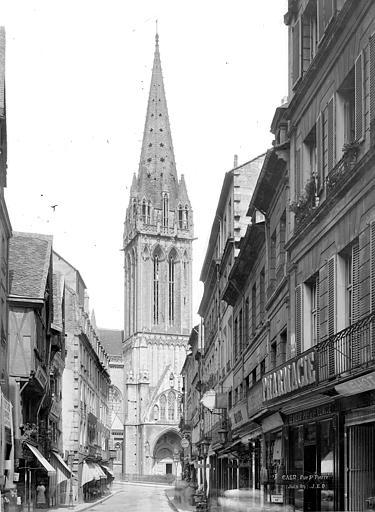 Eglise Saint-Pierre Clocher, côté sud, pris de la rue Saint-Pierre, Durand, Jean-Eugène (photographe),