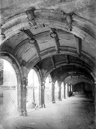 Abbaye de Saint-Martin (ancienne) Cloître, galerie perspective, Durand, Eugène (photographe),