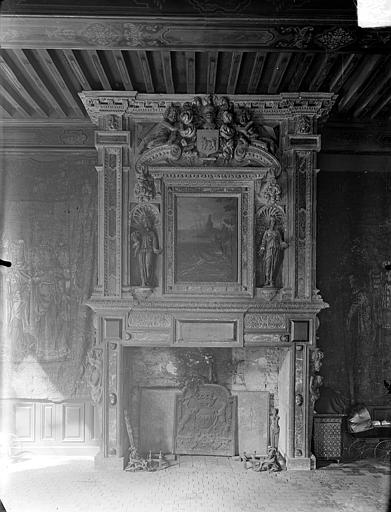 Hôtel de Vogüé Vue intérieure d'une salle : Cheminée, Gossin (photographe),
