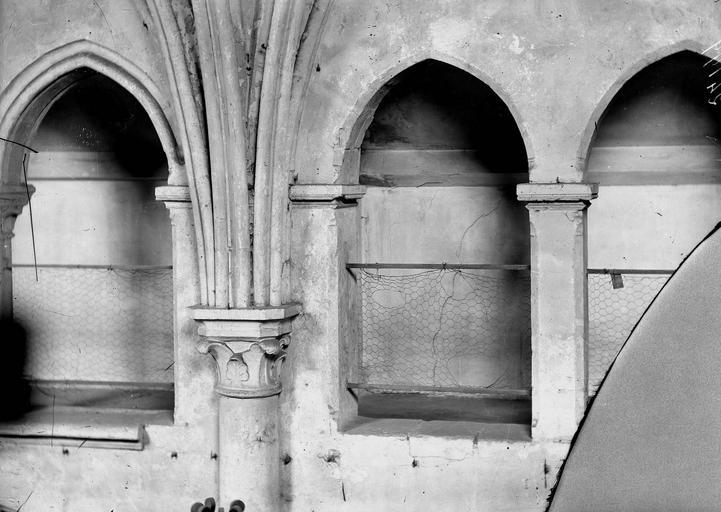 Eglise Saint-Saturnin Triforium, Humez (abbé),