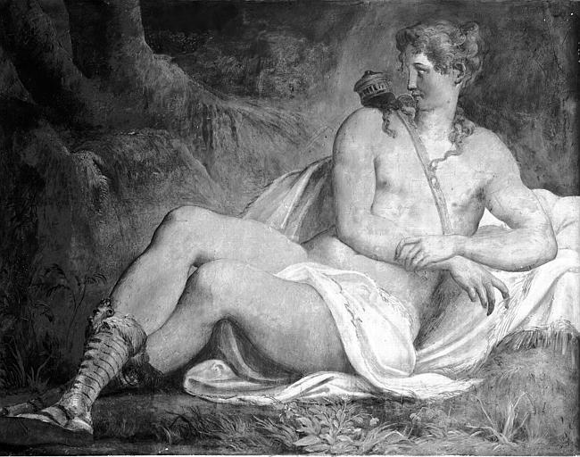 Domaine national, château Peintures murales de la galerie Henri II, Diane, Service photographique,