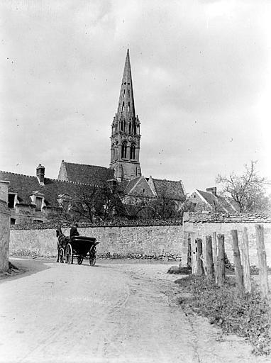 Eglise Clocher : ensemble, Chaine, Henri (architecte),