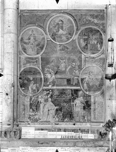 Cathédrale Saint-Pierre Peinture murale, côté gauche du choeur, Gossin (photographe),