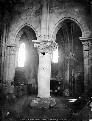 Eglise Saint-Julien-le-Pauvre Intérieur, Durand, Eugène (photographe),