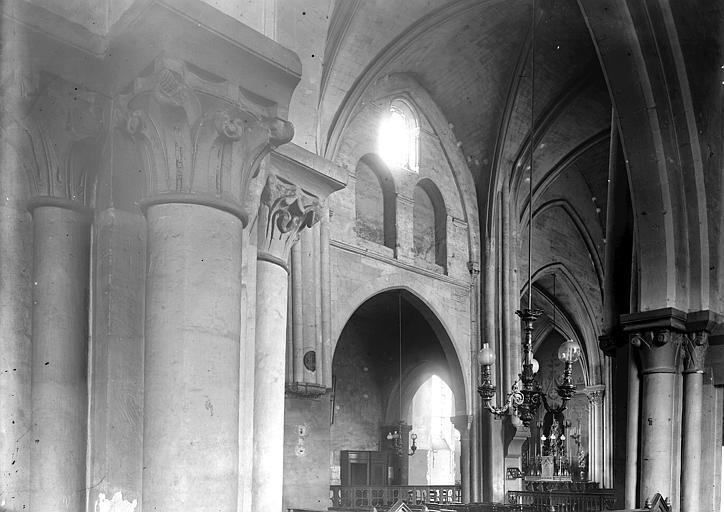 Eglise Saint-Pierre-de-Montmartre Vue diagonale de la nef, Enlart, Camille (historien),