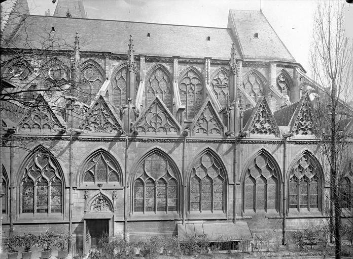 Eglise Saint-Séverin Ensemble sud, moins la première travée à l'ouest, Durand, Eugène (photographe),