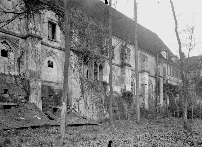 Abbaye du Moncel (ancienne) Bâtiments, côté nord, Service photographique,