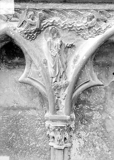 Cathédrale Saint-Etienne Façade ouest : arcatures et bas-reliefs du soubassement, Doucet ; Baudet (photographe),