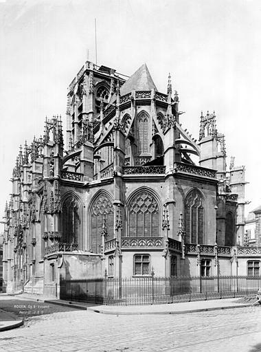 Eglise Saint-Vincent (ancienne) Ensemble est, Durand, Jean-Eugène (photographe),