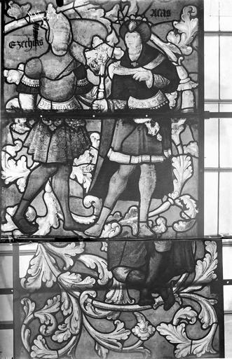 Eglise Vitraux, panneaux 1, 15, 16 de la baie E, Nadeau, H. (photographe),