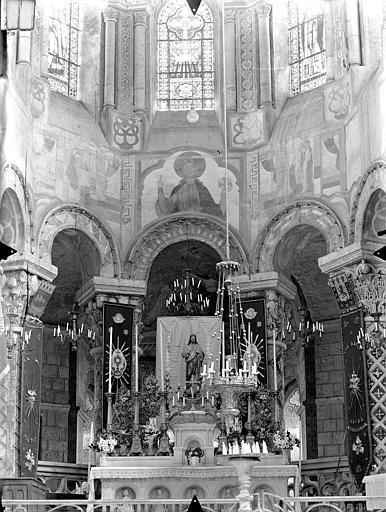Eglise Sainte-Radegonde Vue intérieure du choeur, Gossin (photographe),