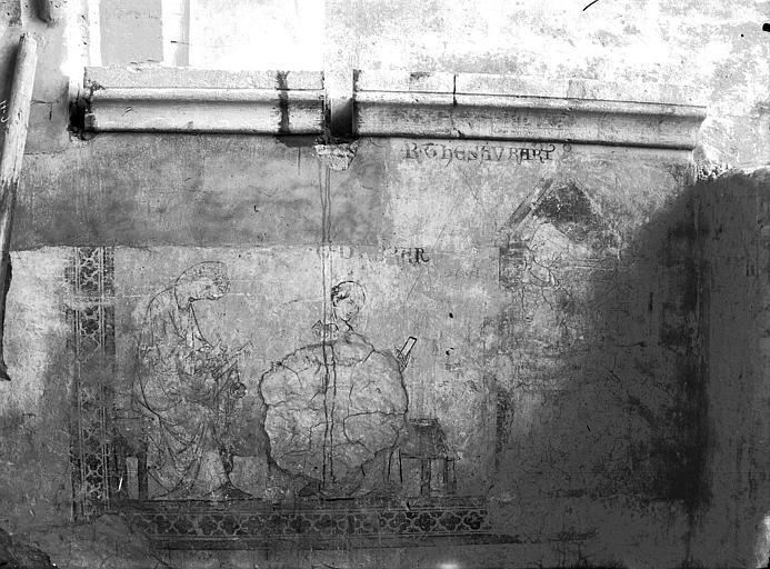 Cathédrale Notre-Dame Fresque du 13e siècle, aujourd'hui détruite qui se trouvait dans l'ancien Cadulaire du Chapitre, Lajoie, Abel,