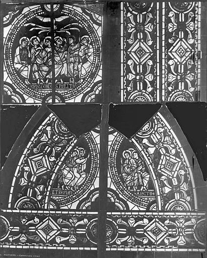 Cathédrale Saint-Pierre Vitrail, baie C : médaillon, Leprévost (photographe),