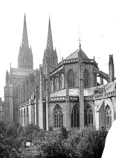 Cathédrale Saint-Corentin Ensemble sud-est, Mieusement, Médéric (photographe),