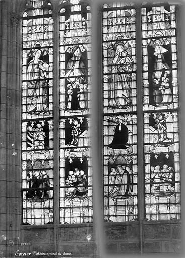 Cathédrale Notre-Dame Vitrail du choeur : donateurs et saints personnages, Mieusement, Médéric (photographe),