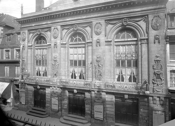 Théâtre Façade sur rue : ensemble, Durand, Jean-Eugène (photographe),