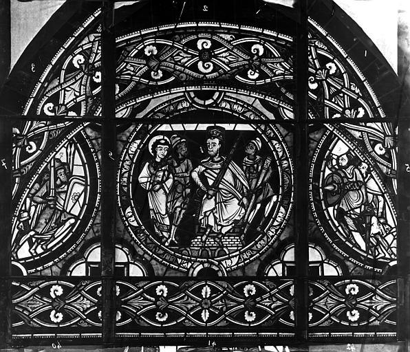 Cathédrale Saint-Pierre Vitrail, fenêtre, figure, ornement, Leprévost (photographe),