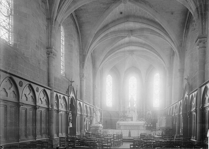 Eglise Saint-Aubin (ancienne collégiale) Choeur, Enlart, Camille (historien),