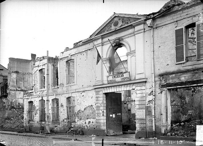 Hôpital américain Façade, Verneau, G.,