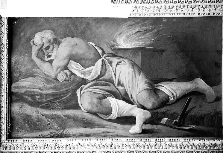 Domaine national, château Peintures murales de la galerie Henri II, Vulcain, Service photographique,