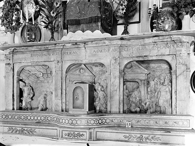 Eglise Notre-Dame de Mouthier-le-Vieillard Retable, Gossin (photographe),