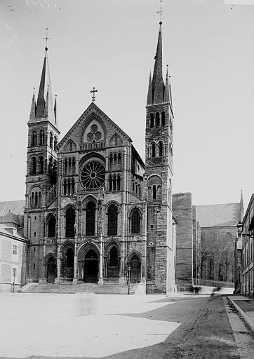 Basilique Saint-Remi Façade ouest, Enlart, Camille (historien),