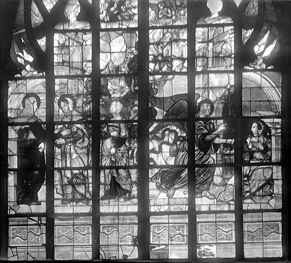 Eglise Notre-Dame Vitrail : Annonciation. Visitation, Durand, Jean-Eugène (photographe),