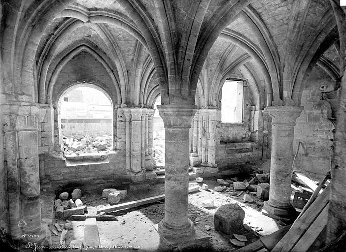 Abbaye (ancienne) Salle capitulaire : vue intérieure, Mieusement, Médéric (photographe),