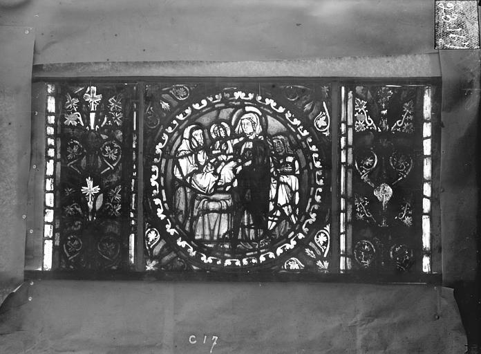 Eglise Saint-Gengoult Vitrail de l'abside, lancette de droite, panneau 18, Romanais (photographe),