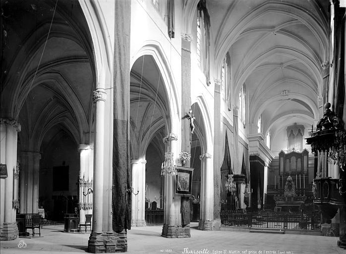Eglise Saint-Martin (ancienne) Vue intérieure de la nef vers le nord-est, Mieusement, Médéric (photographe),