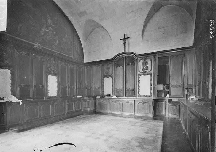 Abbaye aux Hommes (ancienne) Salle des Gardes, charpente, Service photographique,