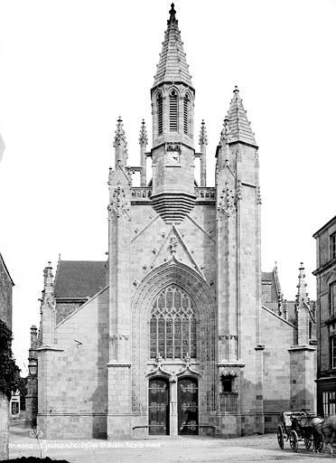 Eglise Saint-Aubin (ancienne collégiale) Façade ouest, Mieusement, Médéric (photographe),