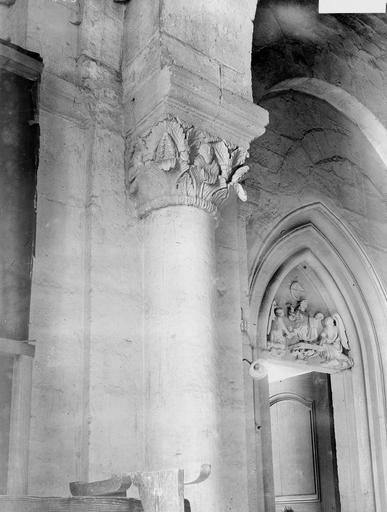 Cathédrale Notre-Dame-de-l'Assomption Chapiteau, Durand, Georges (photographe à Amiens),